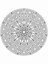 Kaleidoscope Coloring Printable Mycoloring Colors sketch template
