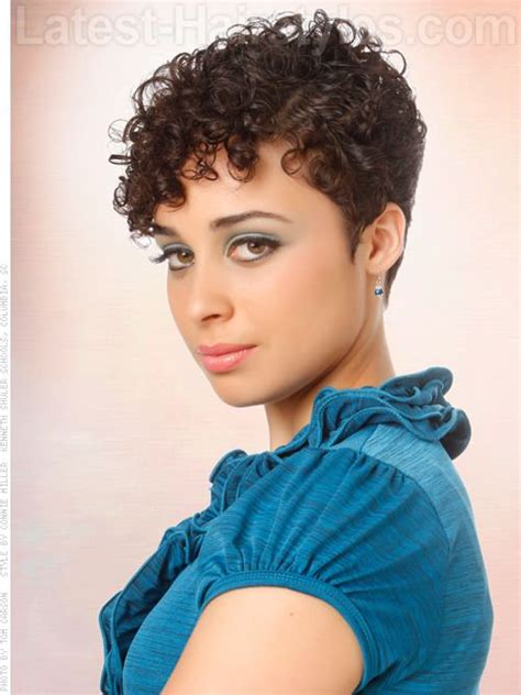 24 best short edgy curly hair images on pinterest hair