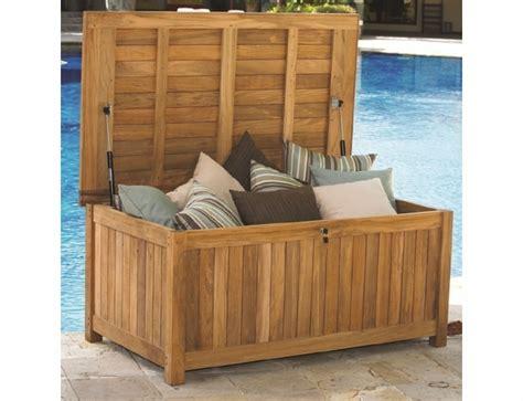 cushion teak storage box outdoorfurniturepluscom