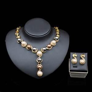aliexpresscom buy parure bijoux mariage jewelry gold With parure bijoux mariage perle