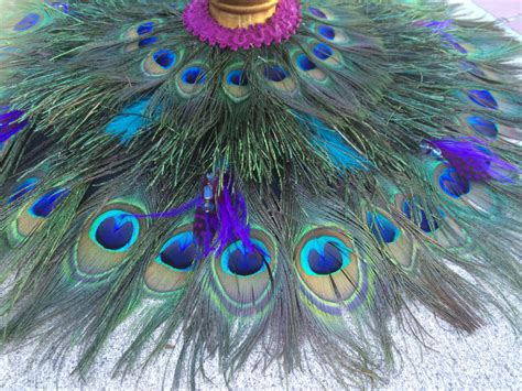 bohemian gypsy peacock feather table mat tree skirt or by