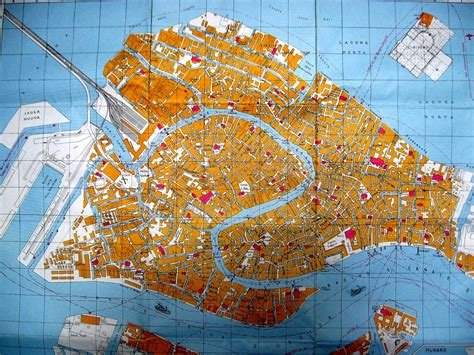 map  venice  streets  grand canal italy