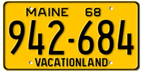 Maine Dmv Vanity Plates by Maine License Plates Classic New And Custom