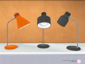 The sims resource study desk lamp set by dot o sims 4 for Lamp light dot net