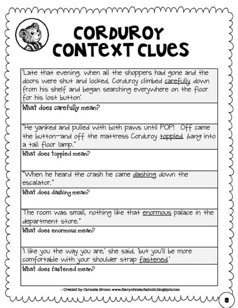 context clues worksheets grade 7 worksheets for all
