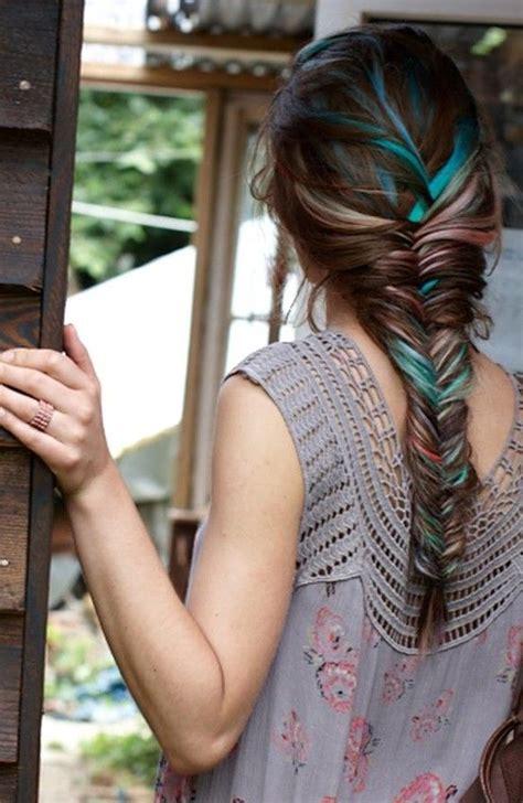Best 25 Blue Hair Streaks Ideas On Pinterest
