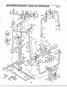 Home Gym  Exploded Drawing Diagram  U0026 Parts List For Model