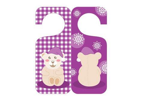 pancarte chambre modèle de pancarte de porte réversible petit ourson