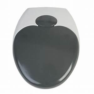 Wc Sitz Lochabstand : wc sitz family dark grey duroplast absenkautomatik wei inkl befestigung ebay ~ Watch28wear.com Haus und Dekorationen