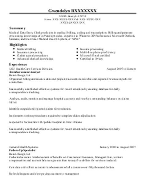 staff credentialing coordinator resume exle