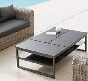 Table Basse Salon De Jardin : table basse de jardin hesp ride pas cher ~ Teatrodelosmanantiales.com Idées de Décoration