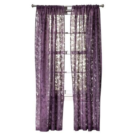 target sheer curtains threshold botanical burnout sheer curtain panel target