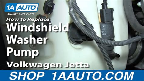 automotive repair manual 2012 volkswagen cc windshield wipe control how to install replace windshield washer pump 2005 11 volkswagen vw jetta youtube