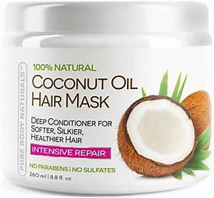 Coconut Oil Hair Mask Deep Conditioner 100 Cold Pressed
