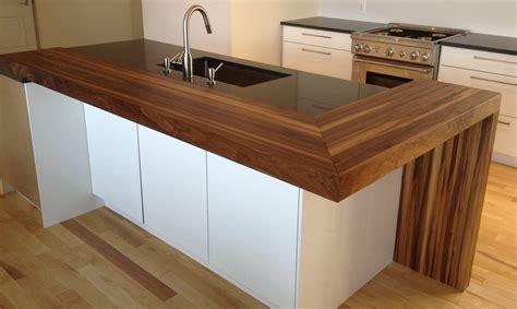 comptoir de cuisine en bois dessus de comptoir en bois fashion designs