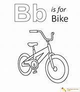 Coloring Bike Letter Learning Alphabet sketch template