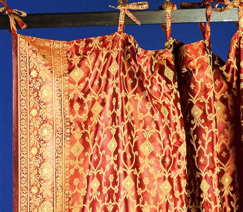 monsooncraft com indian sari fabric curtains and panels