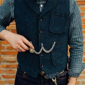 Retro Men U0026 39 S British Style Casual Wool Blend Tweed Slim Fit