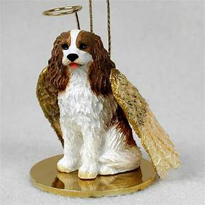 Cavalier King Charles Ornament Angel Figurine Hand Painted