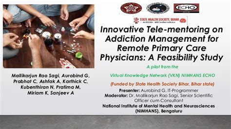 Innovative Tele-mentoring On Addiction Management For