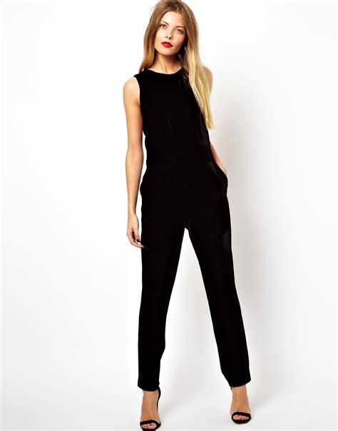 and black jumpsuit glamorous jumpsuit in velvet in black lyst
