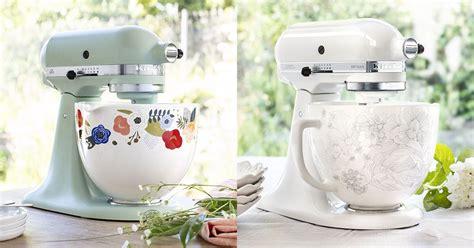 kitchenaid ceramic bowls  match colorful stand mixer