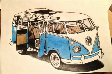 volkswagen bus drawing vw bus drawing related keywords suggestions vw bus