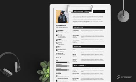 Free Resume Upload Script by Free Simple Resume Cv Design Template With Cover Letter