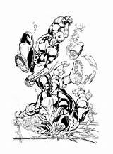 Daredevil Coloring Bullseye Inks Devgear Comics Deviantart Results sketch template