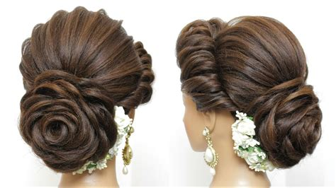 Pics Of Hairstyles For by New Bridal Hairstyle With Flower Bun For Hair