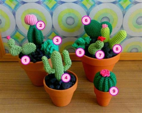 cute crocheted cacti a plant plushie yarncraft on cut out keep