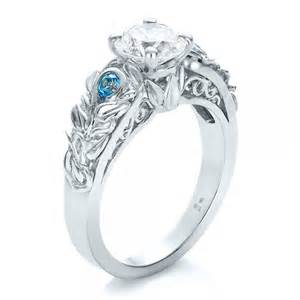 blue topaz engagement ring custom jewelry engagement rings bellevue seattle joseph jewelry