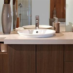 bfd rona products diy install a drop in bathroom sink With meuble salle de bain dessus lavabo