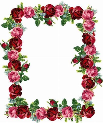 Frame Border Rose Clipart Digital Park Cliparts