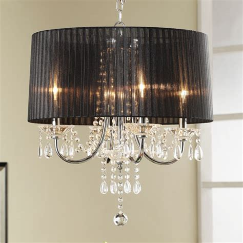 Black Chandelier Shade by Black Four Light Shade Chandelier Modern Chandeliers