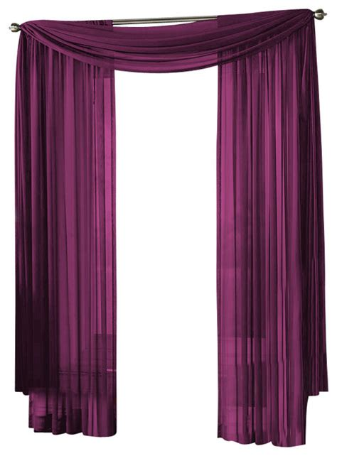 Purple Sheer Curtains Target by Hlc Me Sheer Curtain Window Purple Scarf Traditional