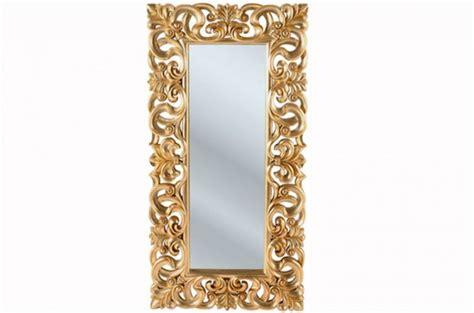 miroir kare design baroque dor 233 gold 180x90 miroir rectangulaire pas cher