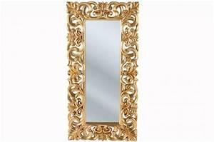 Miroir Doré Rectangulaire : miroir baroque dor gold 180x90 miroir rectangulaire pas cher ~ Teatrodelosmanantiales.com Idées de Décoration