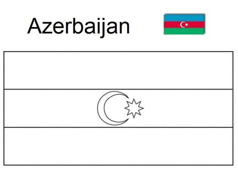Azerbaijan Flag Coloring Picture