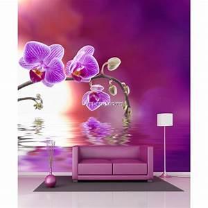 Papier Peint Geant : papier peint g ant orchid e 11047 stickers muraux deco ~ Premium-room.com Idées de Décoration
