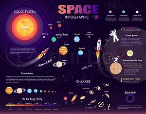 Space Infographic On Purple Background  Vector