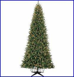 9 ft Slim Christmas Tree Decorations Pre Lit Xmas Lights