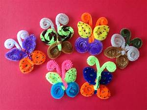 MARIPOSAS HECHAS CON LIMPIA PIPAS Butterflies made with