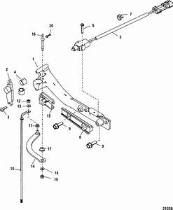 Shift Linkage For Mercury 200 Optimax V6 Dfi