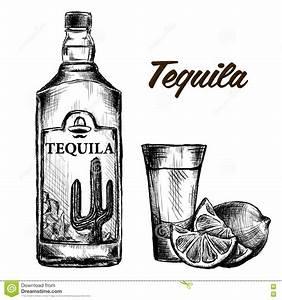 Kalk Von Glas Entfernen : flasche tequila mit kalk und glas eigenh ndig gemalt vektor abbildung illustration von stich ~ Bigdaddyawards.com Haus und Dekorationen