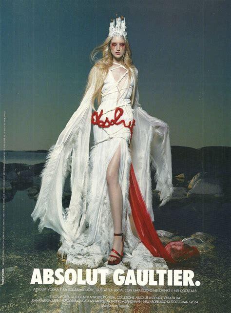 absolut gaultier lucia version vodka magazine ad by jean paul gaultier