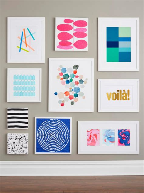 9 easy diy wall art ideas hgtv