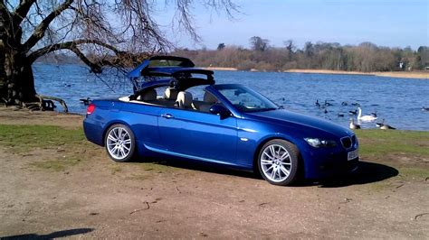 bmw  convertible roof  le mans blue youtube