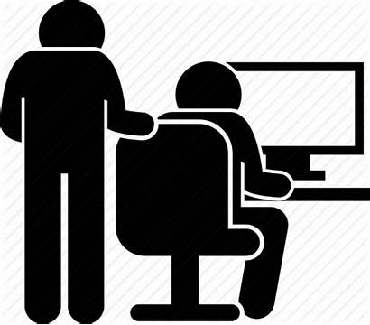 Office Icon Colleague Teaching Help Icons Trainee