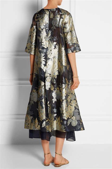 biyan adine oversized embroidered organza dress fashion